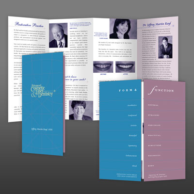 High-end Brochure design for Dr. Rayl Dentistry