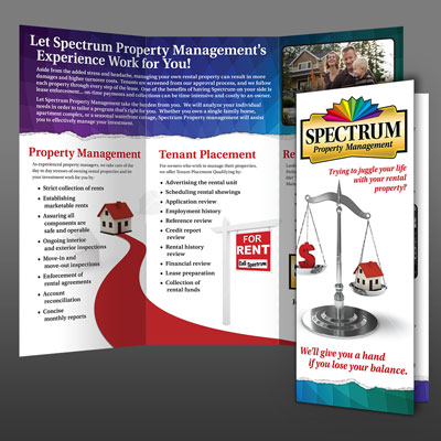 Brochure design for Spectrum Property Management