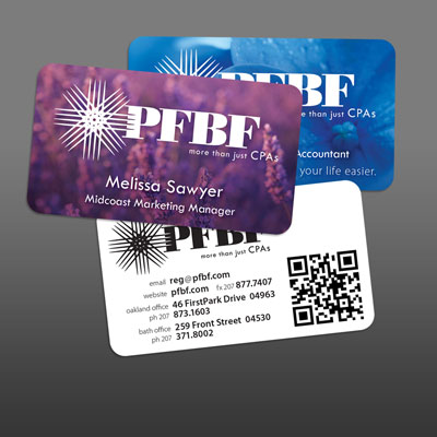 Unique Business Card Designs for PFBF CPAs