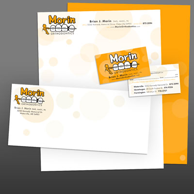 Foil Stationery Layout for Morin Orthodontics